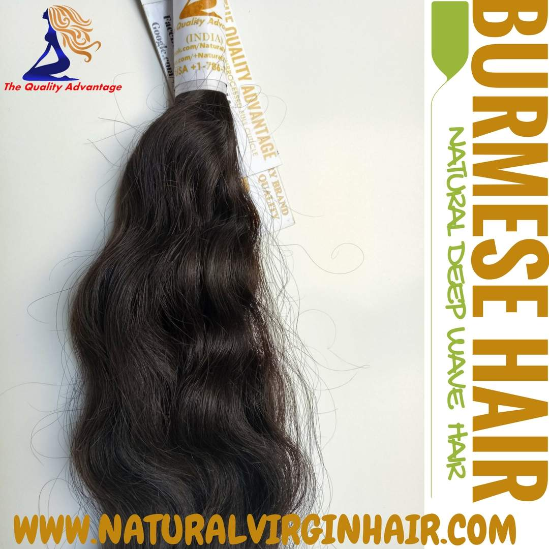 Burmese Natural Deep Wave Hair